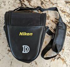 Brand New Nikon D DSLR Models Shoulder Strap Camera Bag Black/ Gold