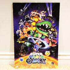 """Super Mario Galaxy Poster 24"""" x 36"""" w/ Backer Board & Plastic Cover FAST SHIP"""