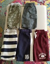 """Boys Shorts, """"Lot of 5 Pairs"""", Size 8, OshKosh, Carter's & Old Navy"""