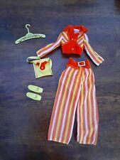 Vintage Barbie Francie 1970 Fashion Slacks Suit  Striped Pantsuit Rare Outfit