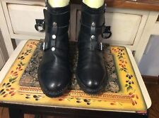 Rebecca Minkoff Womens Black Leather moto Ankle Boots zip Sz 8 M, One missing!!!