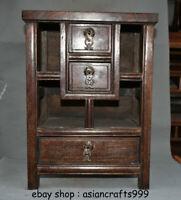 """16 """"alten China Huanghuali Wood Dynasty klassischen Schrank Truhe Box Möbel"""