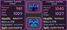 Roblox Dungeon Quest - Enchanted Forest - Purple - Crystalline - Guardian Setup