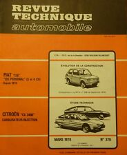 Revue technique CITROEN CX 2400 GTI PRESTIGE CARBURATEUR INJECTION RTA 376 1978