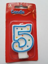 5th Birthday Candle Party Cake Topper Decoration Number 5 Age Candle 5th Age