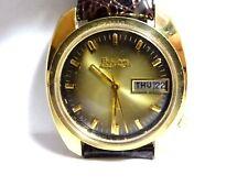 Vintage 1972 Bulova Accutron 2182 Tuning Fork Men's Wrist Watch runs Heavy GP