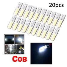 20Pcs/Set White T10 W5W COB 2835 12 LED Car Canbus License Plate Lamp Light Bulb