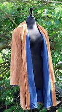 Randolph Duke The Look Two Sided Leather/Jean Long Jacket With Belt Womens M New