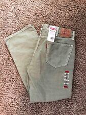 NWT Men's LEVI'S 505 Jeans REGULAR FIT Straight Desert Khaki 40x30