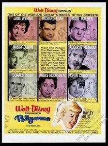 1960 Hayley Mills pic Walt Disney Pollyanna movie release vintage print ad