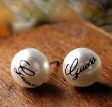Pearl Stud Earrings Cream Statement Fashion Butterfly Pierced Pair Earring Gift