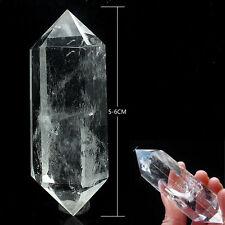Natural CLEAR Quartz Crystal point Healing Mineralien Calcit Bergkristall 6cm