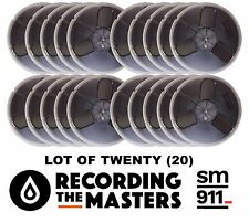 "LOT OF (20) SM911 RTM PYRAL RMG TAPE REEL TO REEL 1/4"" X 1200' 7"" PLASTIC NEW"