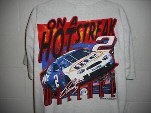 "Vintage Nascar Rusty Wallace Miller Lite ""On a Hot Streak"" T-Shirt XL"