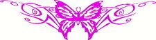 Butterfly Tribal, Windscreen, Car, Wall Art, Pink Sticker Decal 300 x 80mm