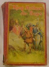 King Arthur For Boys Book Henry Gilbert 1929 Saalfield Illus Frances Brundage
