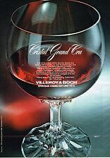 PUBLICITE ADVERTISING  1982   VILLEROY & BOCH  art de la table verre Cristal