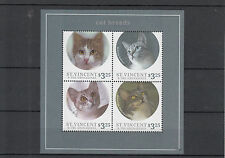 St Vincent & The Grenadines 2013 MNH Cat Breeds 4v M/S Aegean Bobtail Stamps