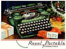 Pubblicità macchina da scrivere TASTIERA ALBERO DI NATALE REGALO USA Arte Poster Stampa lv302