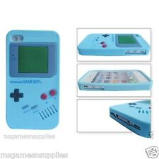 Light Blue Nintendo Game Boy Gameboy iphone 4 4G 4S Silicone Full Back Case NEW