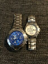 preowned , white face and blue face Adidas chrono chronograph watches watch x 2