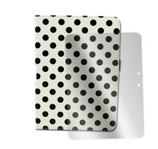 "CASE COVER+SCREEN PROTECTOR STAND PU WHITE DOT AMAZON KINDLE FIRE HD 7"" TABLET"