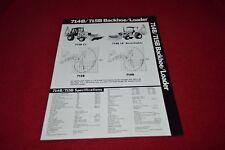 Allis Chalmers 714B 715B Backhoe Loader Dealer's Brochure YABE14