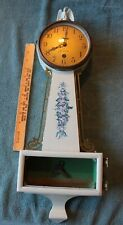 Sessions 8-Day Banjo Wellfleet Clock Vintage wall floral painted w/ eagle PARTS