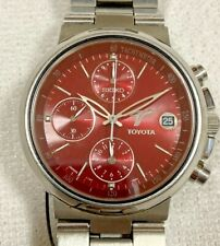 Authentic Vintage Seiko Toyota automatic chronograph day date rare mens watch