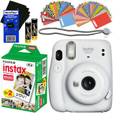 Fujifilm Instax Mini 11 Instant Camera + Fuji Film 20pck + 60 Stickers + HeroFbr