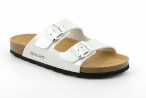 GRÜNLAND sandali CIABATTE SARA CB2425 PERLA bianco DONNA zoccoli