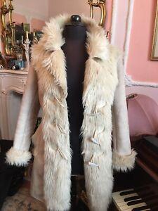 Afghan Penny Lane Boho Faux Sheepskin Coat