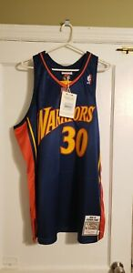 100% Authentic Stephen Curry Mitchell & Ness 09/10 Warriors Jersey Size 52 2XL