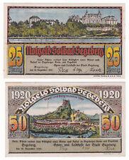 Segeberg, Bad 25 & 50 Pf. 18.12.1920 Grab. 1218.1, Erh. I bis I-