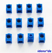 LEGO Technic Technik 12 Stk. Loch Stein  1 x 1 blau 6541  NEU