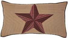 Hand Quilted Luxury King Pillow Sham Texas Star Patchwork Red Khaki Tan Landon