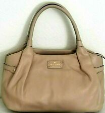 🌞KATE SPADE STEVIE BERKSHIRE ROAD LARGE CAFE BEIGE LEATHER SATCHEL BAG 🌺 NWT!
