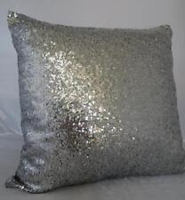 45CM Antique Silver Sequins Home Decor Cushion Cover Pillow Case Throw