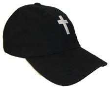 Christian Cross Black White Vintage Polo Baseball Cap Caps Dad Hat God Jesus