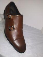 "NEW! Calibrate ""Cusano"" Men's Brown Leather Double Monk Strap Dress Shoe 10M"