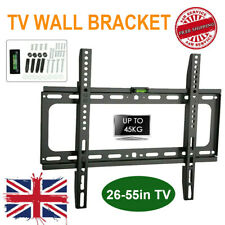 TV WALL BRACKET MOUNT SLIM FOR 26 30 32 40 42 47 55 INCH FLAT 3D LCD LED PLASMA