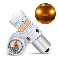 Fit For BMW Honda Lexus Error Free BAU15S 7507 Amber LED Turn Signal Light Bulbs
