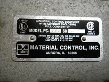 MATERIAL CONTROL, INC. PC-D25 MICRO SAFETY STOP SWITCH DOUBLE ENDED 1P 20AMP