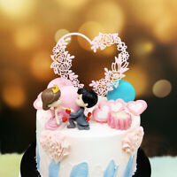 Acrylic Cake Topper Glitter Gold Birthday Wedding Party Cake Dessert Topper Deco