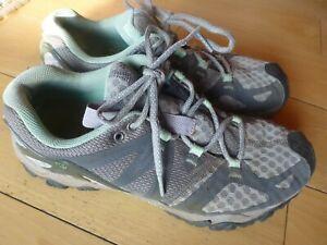 Merrell Women's Grassbow Air Trail Running Hiking Shoes Granite Mint Size 9.5