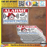 Stickers autocollant alarme protection site sous video surveillance decal