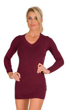 10280 Damen Feinstrick Minikleid Damen Longpullover dress Strickkleid Pullover