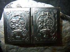 Antikes-Medallion-800er-Silber-Blumen-Korb-Buch-Büchlein-1880-1900