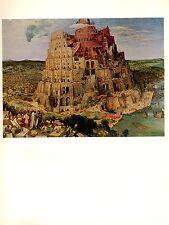 "1969 Vintage BRUEGEL ""THE TOWER OF BABEL (l)"" #1 COLOR offset Lithograph"