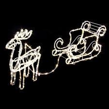 Beleuchteter Schlitten Weihnachtsdeko.Rentierschlitten Günstig Kaufen Ebay